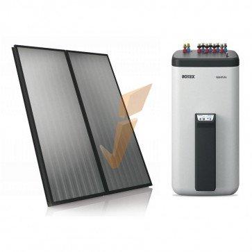 Solare Termico Rotex Solaris kit 4xV26/500 SopraT Nero