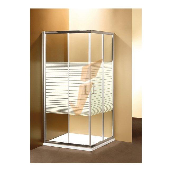 BOX DOCCIA PONSI SERIE GOLD RETTANGOLARE CON DUE PORTE SCORREVOLI 70x90 cm