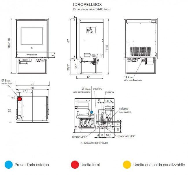 idropellbox termocamino a pellet edilkamin idropellbox 15 7 kw prezzi