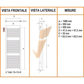 Mercurio Cromato 550 x 1500 mm