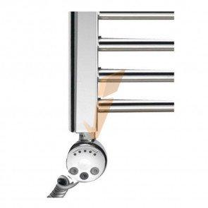 Termoarredo Mercurio cromato con termostato regolabile 600 x 1800 mm