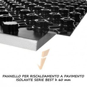 Pannello isolante serie best h 60 mm