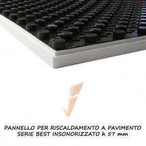 Pannello isolante serie best insonorizzato h 57 mm
