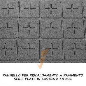 Pannello isolante serie plate in lastra altezza 40 mm