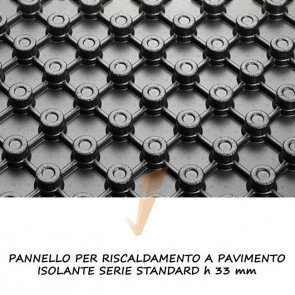 Pannello isolante serie standard h 33 mm