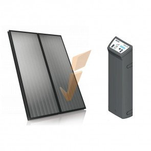 Solare Termico Rotex Solaris kit 2xH26 SopraT Rosso