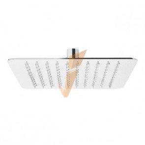 Soffione Ponsi in Acciaio Inox per Doccia 300x300 mm
