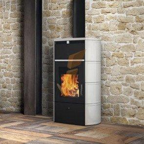 Termostufa a Legna Edilkamin Flamma CS 23,6 kW a Vaso Chiuso
