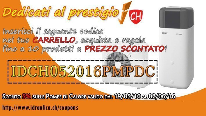 COUPON SCONTO POMPE DI CALORE