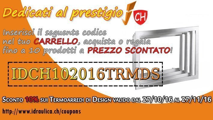 COUPON SCONTO TERMOARREDI DI DESIGN