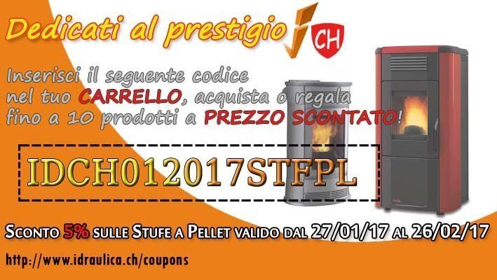 COUPON SCONTO STUFE A PELLET